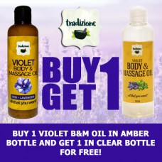 Violet Body and Massage Oil (Buy 1, Take 1)
