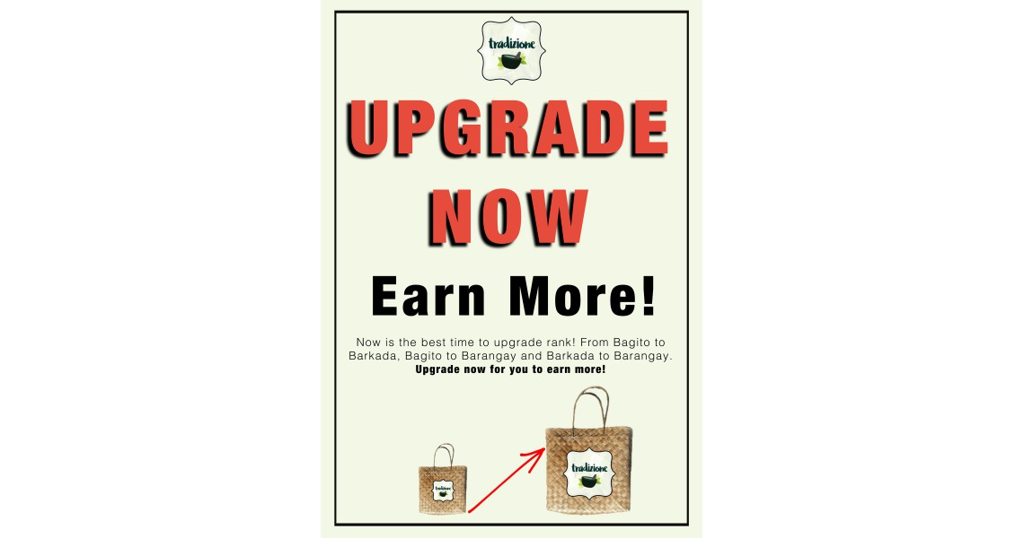 Upgrade Now, Earn More
